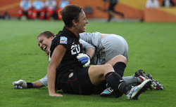 Abby Wambach and Hope Solo. Click image to expand.