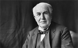 Thomas Edison. Click image to expand.