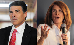Rick Perry and Michele Bachmann. Click image to expand.