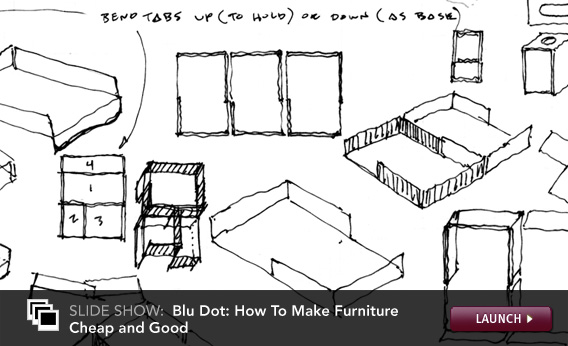 Blu Dot: How To Make Furniture Cheap and Good. Click image to launch.