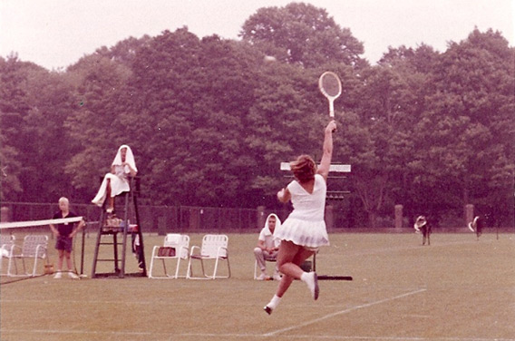 Victoria Heinicke (then Victoria Palmer) in action in the early 1960s. Click image to expand.