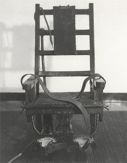 Old Sparky, the electric chair used at Sing Sing prison.
