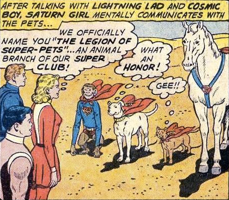 Our numbers, and fleas, are legion: The Super-Pets. Adventure Comics No. 293 (February 1962).