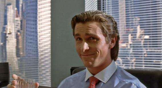 "Christian Bale as Patrick Bateman in ""American Psycho"""