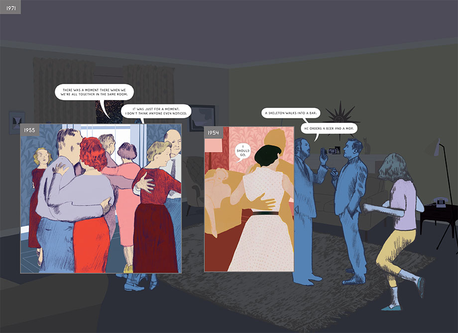 A panel from Here by Richard McGuire.