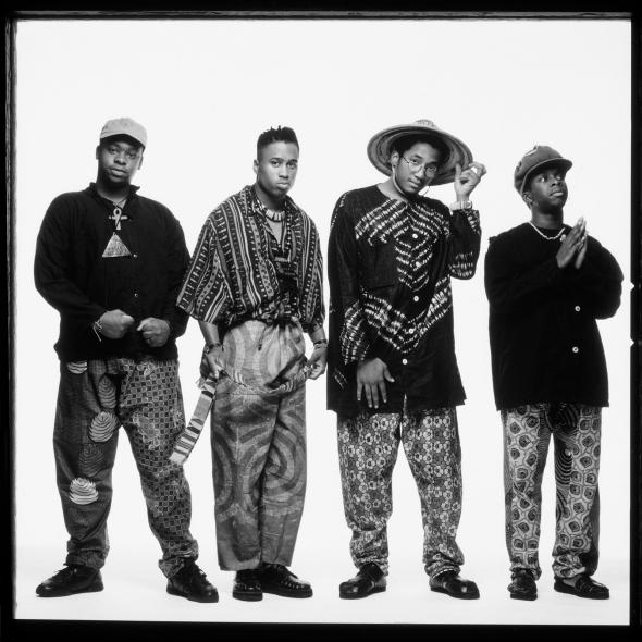 (L-R) Jarobi White, Ali Shaheed Muhammad, Q-Tip, and Phife Dawg ,(L-R) Jarobi White, Ali Shaheed Muhammad, Q-Tip, and Phife Dawg of A Tribe Called Quest.