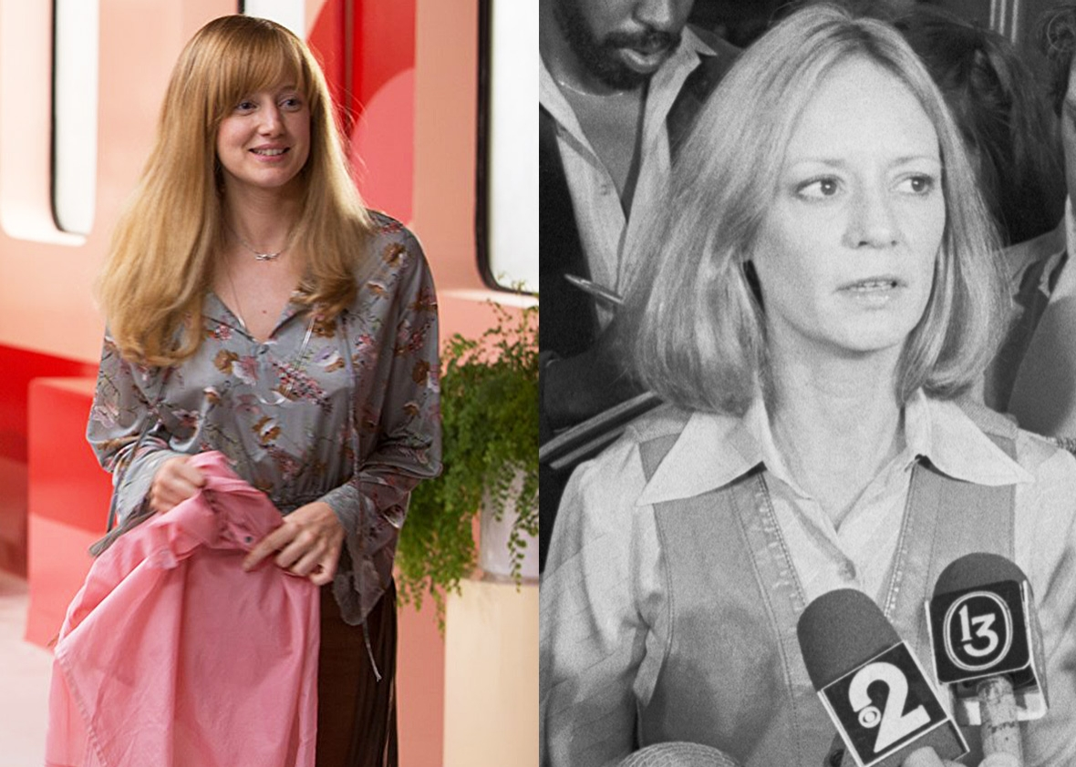 Andrea Riseborough as Marilyn Barnett vs. the real-life Marilyn Barnett.