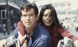 Pierce Brosnan and Michelle Yeoh in Tomorrow Never Dies