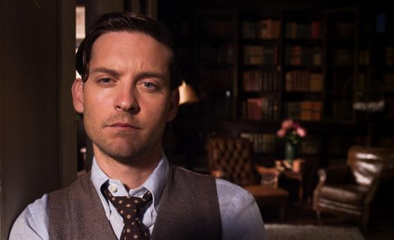Tobey Maguire as Nick Carraway in The Great Gatsby.