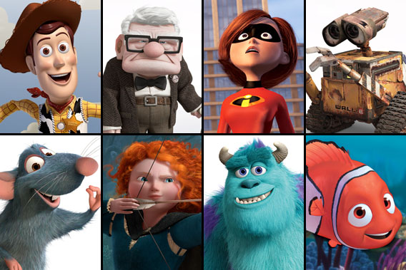 Your favorite Pixar characters.