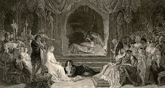Illustration by Daniel Maclise to The Works of Shakespeare, Imperial edition, NY 1875-1876.