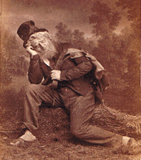 Photograph of actor Henrik Klausen as Peer in the premiere production of Henrik Ibsen's Peer Gynt in 1876.