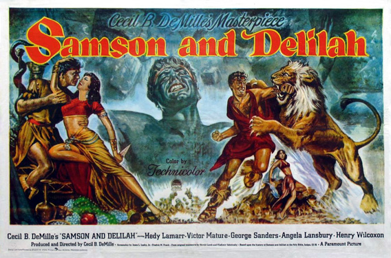 """Samson and Delilah"" movie poster."