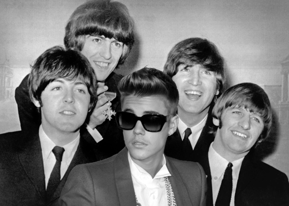 The Beatles and Justin Bieber