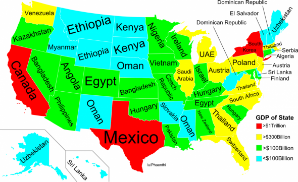 Viral Maps The Problem With All Those Fun Maps Of The US Plus - Funny maps of the us