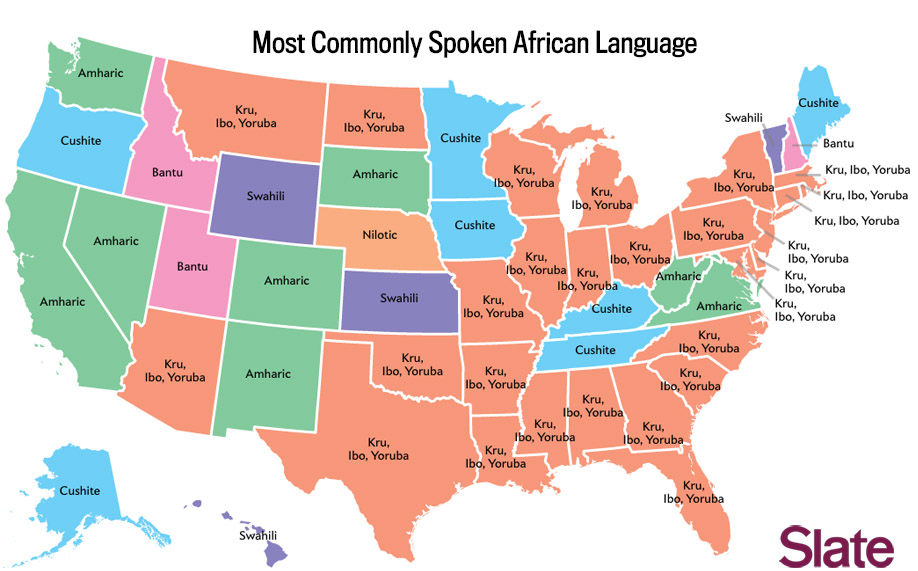 Language map Whats the most popular language in your state