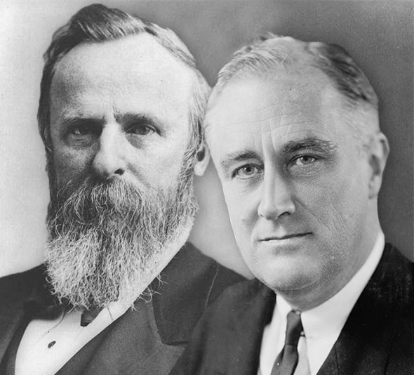 Rutherford B. Hayes and Franklin D. Roosevelt.