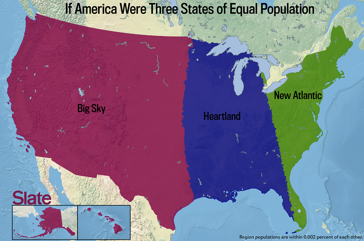 If every US state had the same population what would the map of
