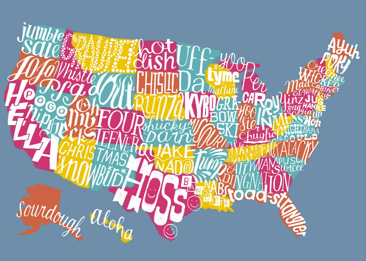united slang of america map if every state had an official word