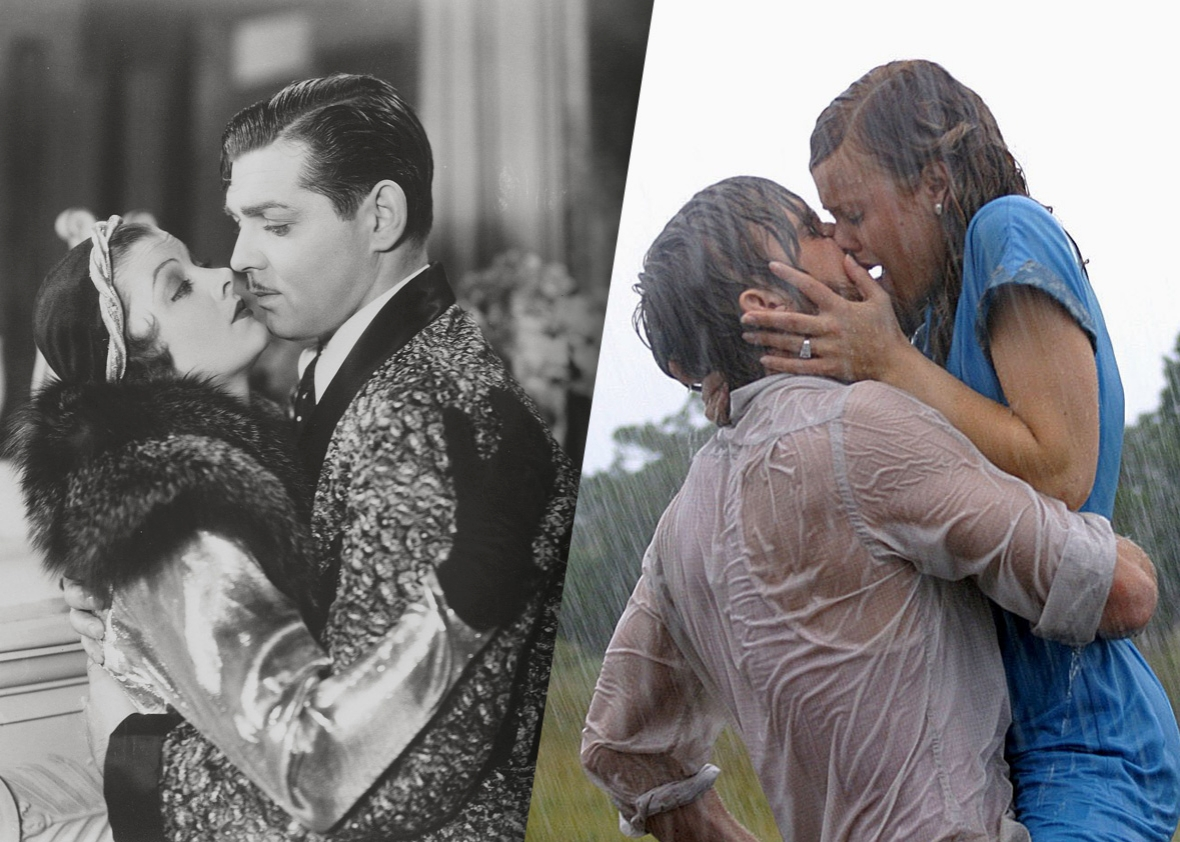 How pop-culture kisses have changed since the days of the silent movie.