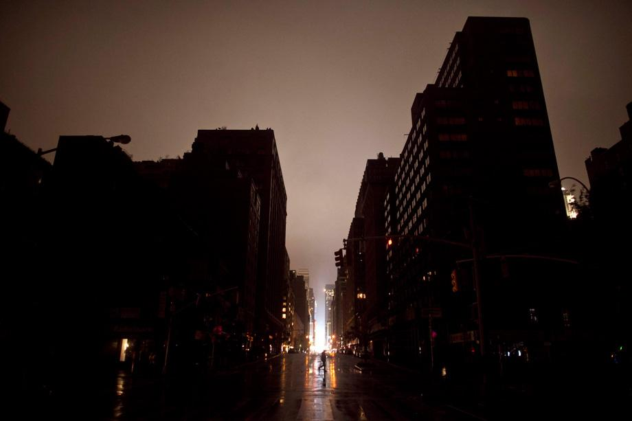 Sandy New York City photos: Flooding and power outages in ... City Power Outage