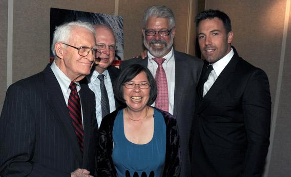 Bob Anders, Mark Lijek, Cora Lijek, Lee Schatz, and actor/director Ben Affleck arrive at the premiere of Warner Bros. Pictures' Argo