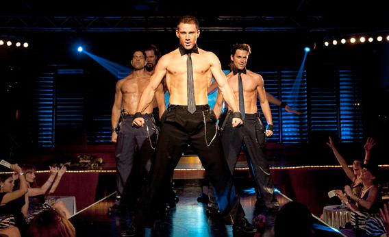 From left: Adam Rodriguez as Tito, Kevin Nashas Tarzan, Channing Tatum as Mike, and Matt Bomer as Ken in Magic Mike