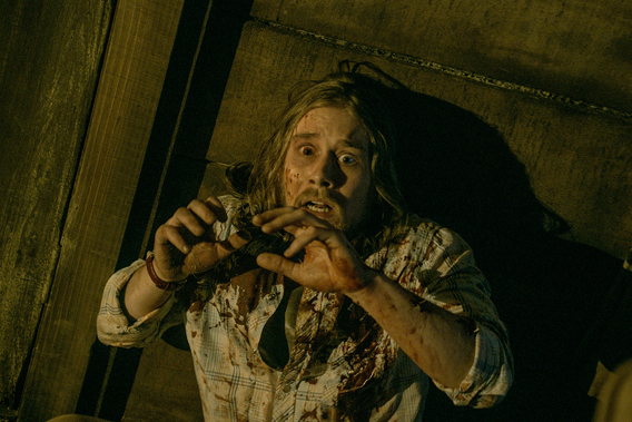 Lou Taylor Pucci as Eric in Evil Dead