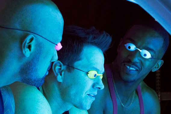 Dwayne Johnso Mark Wahlberg and Anthony Mackie in Pain & Gain