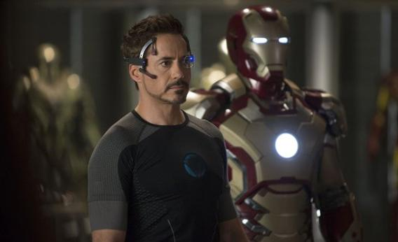 Robert Downey Jr. in Iron Man 3.