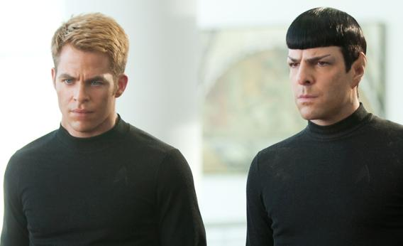 "Chris Pine and Zachary Quinto in ""Star Trek Into Darkness"""
