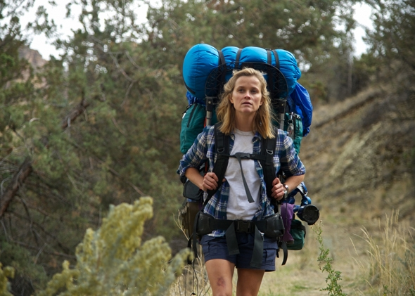 Reese Witherspoon as Cheryl Strayed in Wild.