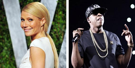Gwenyth Paltrow and Jay-Z.
