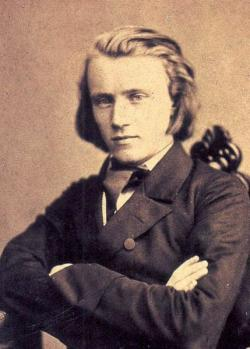 Johannes Brahms around 1853.