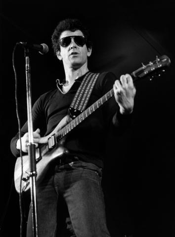 Lou Reed, in Stockholm, 1983