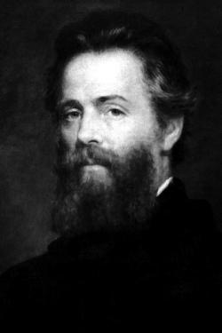 Etching of Joseph O. Eaton's portrait of Herman Melville.