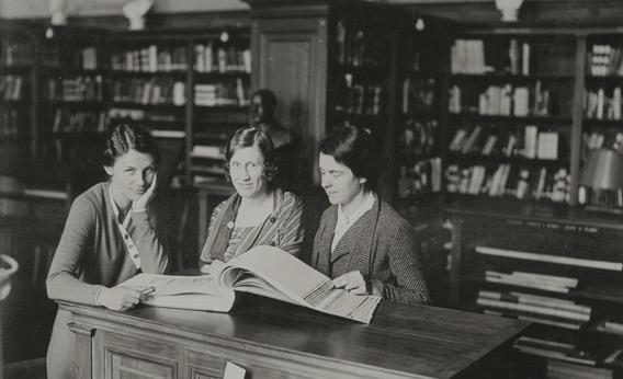 American Academy in Rome Library Main Reading Room, 1933.