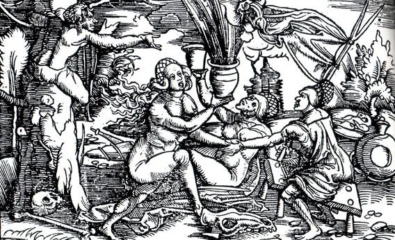 Illustration Witches from Geiler.