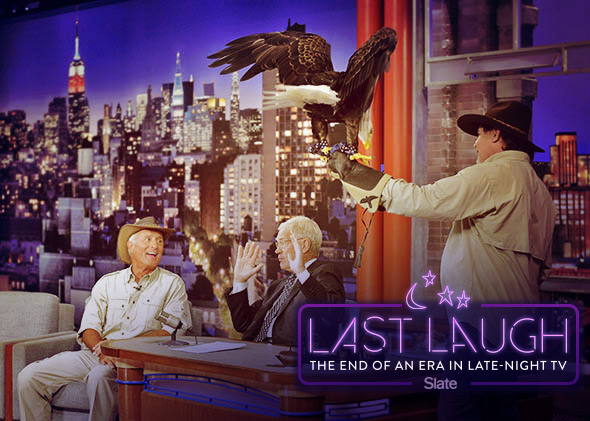 Jack Hanna as a guest on the Late Show
