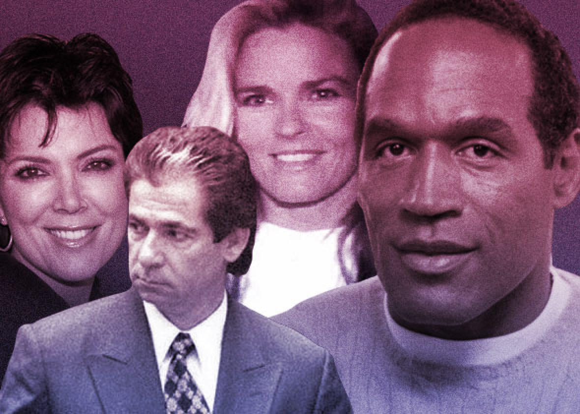Kris and Robert Kardashian, Nicole Brown and O.J. Simpson