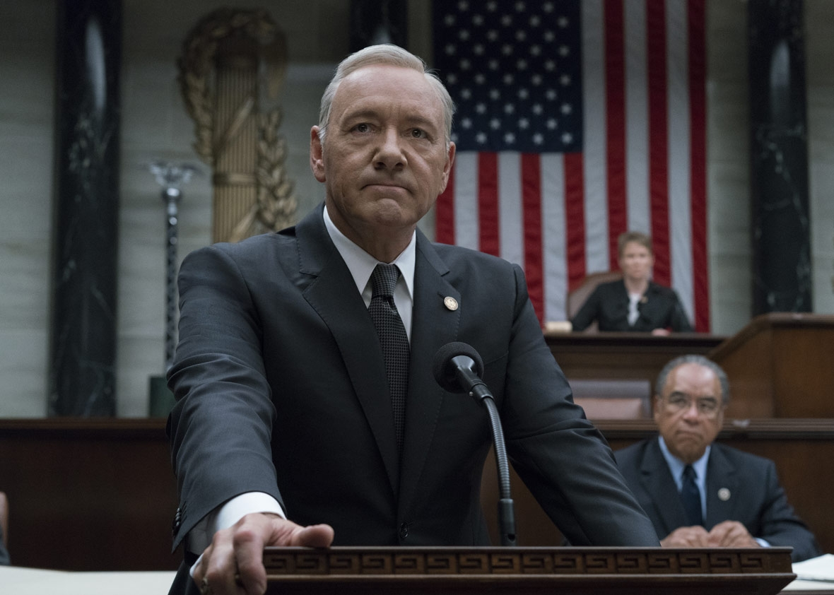 Kevin Spacey as Frank Underwood in season 5 of House of Cards