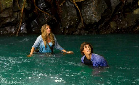 "Indiana Evans, ""Emma"", and Brenton Thwaites, ""Dean"", star in Lifetime's original movie, Blue Lagoon: The Awakening."