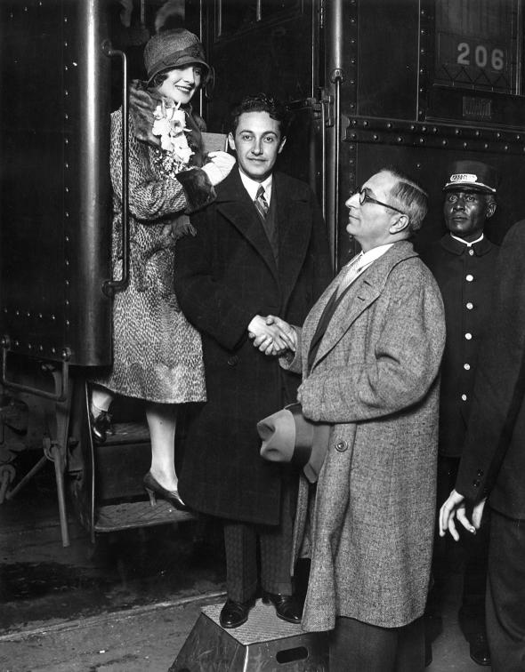 MGM studio head Louis B. Mayer sees actress Norma Shearer and he