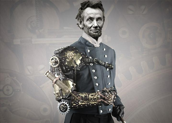 Abraham Lincoln, steampunk president, oversaw fantastic innovation.