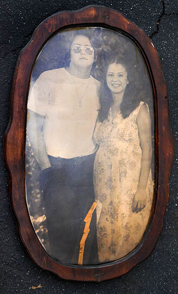 Yvette Flores and her husband, David, in the summer of 1979, whe
