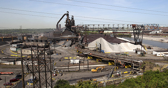 a steel mill in Cleveland.
