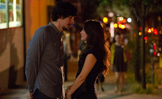 Adam Driver and Shiri Appleby.