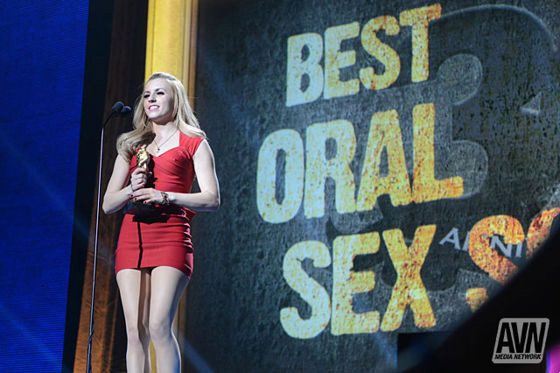 Best Oral Sex Scene Award at the Adult Video News Awards 2013.