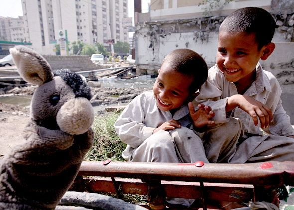 Kids in Karachi, Pakistan