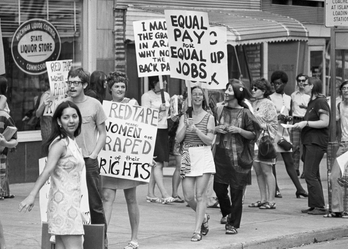 Women's Liberation Coalition March in Detroit, Michigan on August 26, 1970.